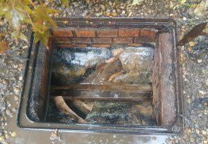plumber northampton - clean chamber and surrounding pipework