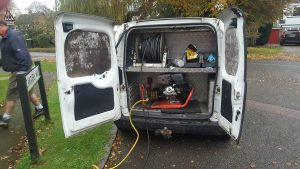 plumber northampton - our van with jetting equipment